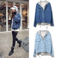 jean sweater jacket fashion vintage leisure hooded two pieces denim jacket on storenvy