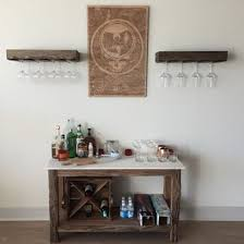 Floating Shelves Rustic by Hand Made Floating Shelf With A Wine Glass Rack Farmhouse Shelf