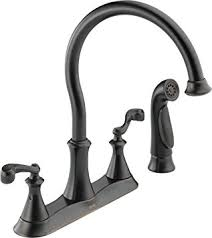 delta vessona kitchen faucet delta 21925lf rb vessona two handle kitchen faucet with spray