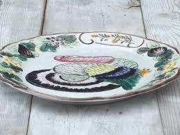 ceramic turkey platter thanksgiving turkey platter painted ceramic made in italy