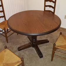 ethan allen round table best vintage ethan allen solid pine old tavern round pedestal dining