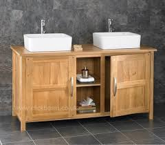 130cm oak bathroom cabinet freestanding basin double sink vanity
