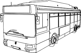 renault bus renault gnv cts bus coloring page wecoloringpage