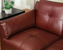 Red Loveseat 3pc Sofa Loveseat Chair Mahogany Red Leatherette
