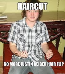 Flips Hair Meme - haircut no more justin beiber hair flip russian roman quickmeme