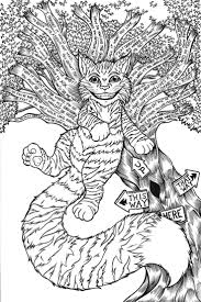 cheshire cat coloring pages and page eson me