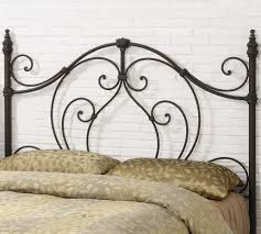 White Wrought Iron King Size Headboards by Classic King Size Fabric Headboard Bed Designs And Metal