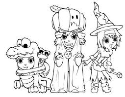 scary halloween costume coloring coloring sky