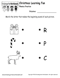 kindergarten christmas phonics worksheet printable jax
