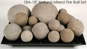 Propane Fireplace Logs by Ceramic Fireplace Fire Balls In Mixed Sizes For Gas Or Propane