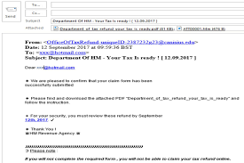 phishing emails and bogus contact hm revenue and customs examples