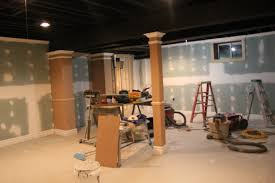 interior painted basement ceiling throughout lovely basement