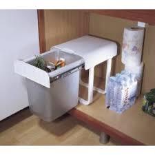 poubelle cuisine encastrable sous evier poubelle coulissante monobac sous évier accessoires de cuisines