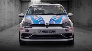 volkswagen polo white colour modified volkswagen ameo cup race car is the quickest car ever from