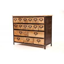 Multi Drawer Wooden Cabinet Industrial Style Wood Metal Multi Drawer Cabinet Sweet Mango