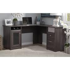Laptop Computer Desks For Home by Furniture Bush Cabot L Shaped Desk With Optional Hutch Desks Plus