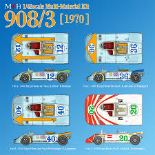 porsche 908 mfh hiro kit porsche 908 03 1970 versions modelart111