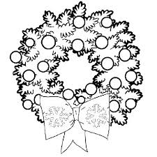 christmas wreath coloring xmas balls wreath xmas crown