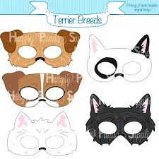 printable bull mask zebra face mask template