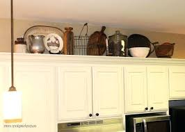 top of kitchen cabinet decorating ideas above kitchen cabinet ideas cabinet decorating ideas pictures small