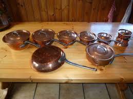 batterie cuisine cuivre batterie cuisine cuivre état de neuf casseroles poêles