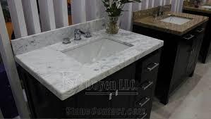 distributor granite vanity tops white carrara marble regarding
