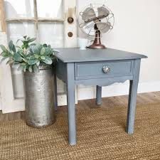 Shabby Chic Side Table Blue End Table Shabby Chic Side Table Vintage Home