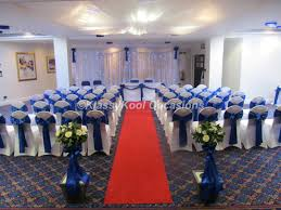 Royal Blue Chair Sashes Wedding Chair Covers Bury Manchester Northwest