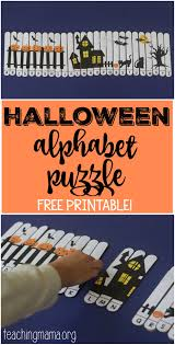 Halloween Letters Printable by Halloween Alphabet Puzzle