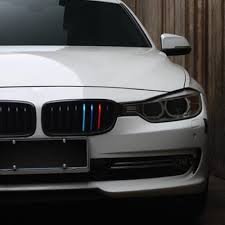 bmw modified aliauto car styling front grille three color reflective car