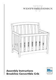 Brookline Convertible Crib Westwood Design Brookline Convertible Crib User Manual 13 Pages