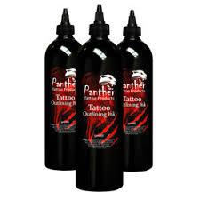 panther tattoo supplies black outline ink 500ml bottle ebay