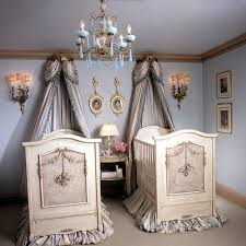 twin nursery furniture with louvered shutters nursery shabby chic