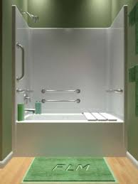 bathtub shower unit handicapped unit