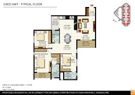 Casa Fortuna Floor Plan Bren Corporation Bren Imperia Bangalore Site Jpg