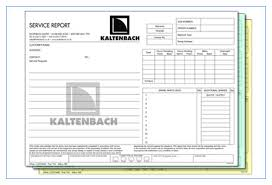 printed business forms using ncr carbonless paper