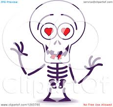 picture of a halloween skeleton clipart of a halloween skeleton in love royalty free vector
