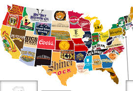 Images Of A Map Of The United States by The United States Of Booze Mapping The Most Iconic Beer And