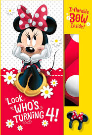 Hello Kitty Halloween Blow Up by Minnie Mouse 4th Birthday Card With Inflatable Bow Greeting