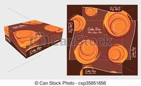 round background paper cake box cake box template design