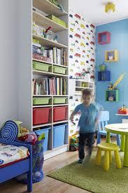 Kids Bedroom Wall Shelves Kids Bedroom Good Looking Design Ideas Using Red Wooden Wall