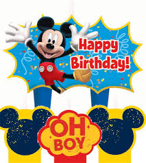 mickey mouse 1st birthday mickey mouse molded birthday cake candle set parties4kids