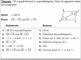 properties of parallelograms worksheet geometry 6 2 properties of parallelograms