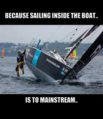 Sail Meme - because sailing inside the boat is too mainstream beach bum