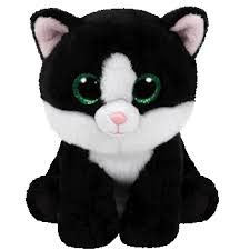 ty beanie boo ava black u0026 white cat 9