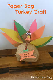 paper bag turkey for thanksgiving thanksgiving craft and turkey