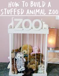 cute stuffed animal storage and organization diy idea stuffed