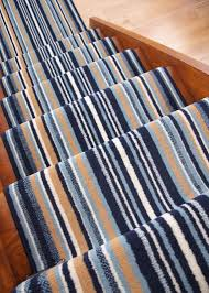 Navy Blue Runner Rug Navy Blue Stripe Long Narrow Stair Carpet Runner Rug Any Length