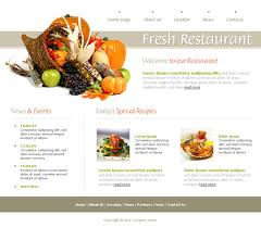 web cuisine ฟร เทมเพลทเว บไซต พร อมธ ม อาหาร เคร องด ม 1