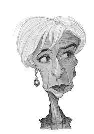 christine lagarde caricature sketch editorial image image 32614765